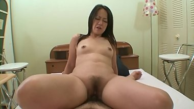Amateur Japanese cougar first time on camera
