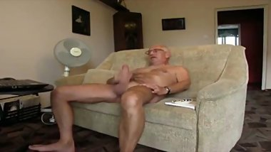 grandpa masturbate and cum
