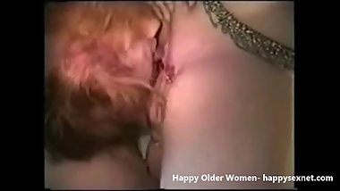 Lesbian grannies having fun. Amateur older