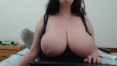 Fabulous sexy Mature Olga with Giga Boobs on nice cam show !!!!