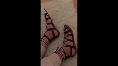 Raphaela - Sexy Feet in black Sandals