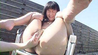 Japanese cougar likes to squeal during sex
