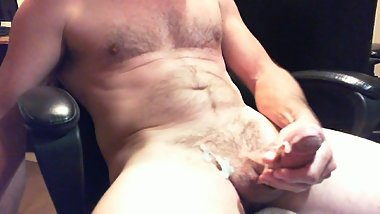 Jerking and playing with my dick until cumming