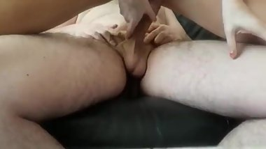 Riding his fat cock untill trembling orgasm (massive creampie!)