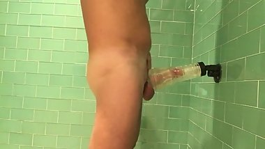 Fleshlight fun in the shower