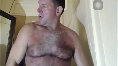 Straight daddy mirror cumshot