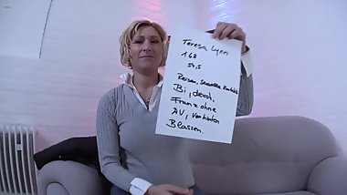 DIRTY and DEPRAVATE German Milf want to cum close to the director!!!