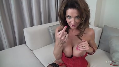 Horny Busty French Housewife Deauxma Fingers Herself Until She Squirts!