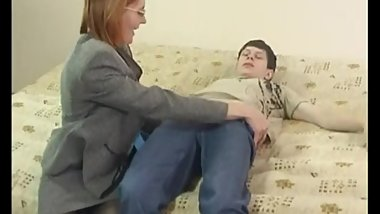 Russian mature mom Elisa with her boy