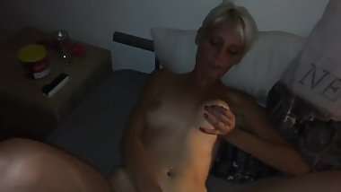 SUPER SKINNY BLONDE MATURE TRAY ASSFUCKING!