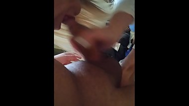 35 Year Old MILF Sucks 21 Year Old's Dick