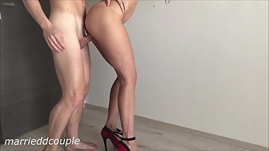Girlfriend With High Heels Fucked Hard From Behind