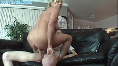 Real stepmom mature fucks stepson while husband is away