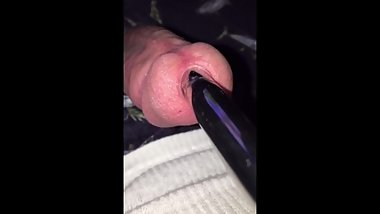 fucking my cock with a metal sound