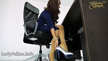 Mature Office Domina mit High Heels Nylons Legs Mistress