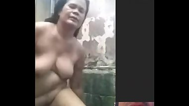 chubby mature filipina mom getting naked for shower as i watch on skype