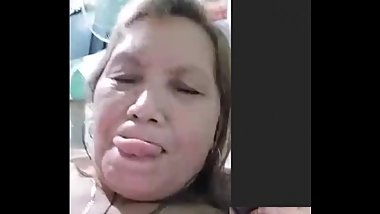 filipina granny playing with her nipple while i stroke my dick on skype