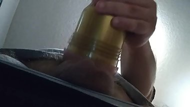 Fleshlight creampie pt1