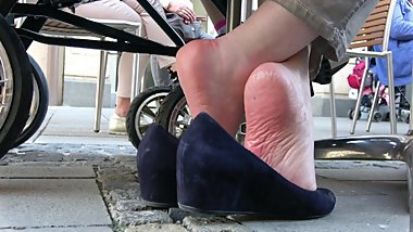 Close To Mature Lady's Sole Wrinkles 1
