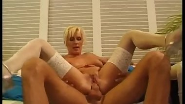 blonde german mature milf lingerie high heels big tits anal sex