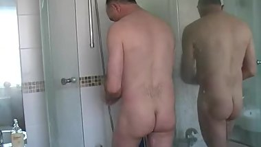 MATURE MAN SHOWER